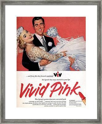 1950s Usa Lipsticks Lipstick Weddings Framed Print by The Advertising Archives