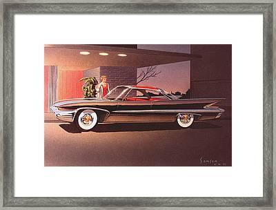1960 Desoto Classic Styling Design Concept Rendering Sketch Framed Print by John Samsen