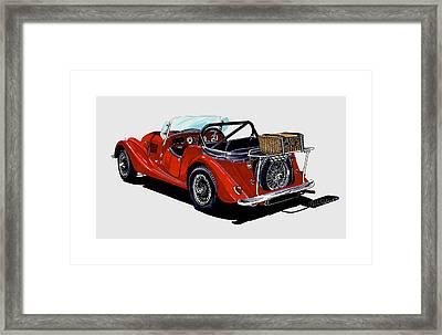 1961 Morgan 4 Plus 4 1961 Framed Print by Jack Pumphrey