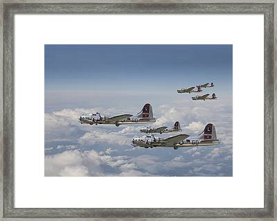 381st Group Outbound Framed Print by Pat Speirs
