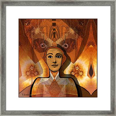 534 - Mysterious Lady  ... Framed Print by Irmgard Schoendorf Welch
