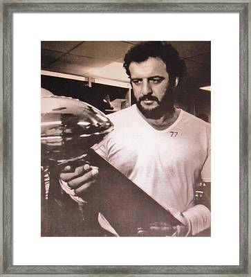 # 77 Defensive End Lyle Alzado Oakland Raiders Framed Print by Donna Wilson