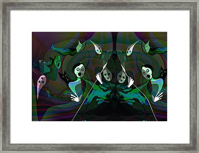 968 - The Things Of  Night Framed Print by Irmgard Schoendorf Welch