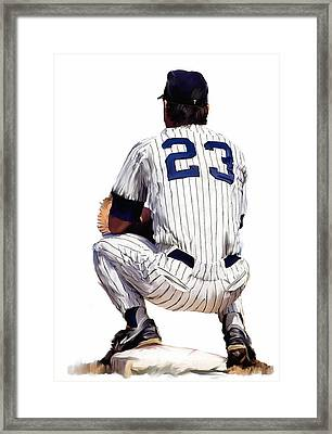 A Moment To Remember II Don Mattingly  Framed Print by Iconic Images Art Gallery David Pucciarelli