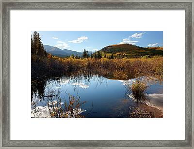 A Reflection Of Fall Framed Print by Jim Garrison