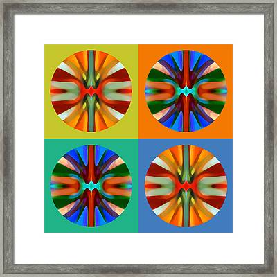 Abstract Circles And Squares 2 Framed Print by Amy Vangsgard