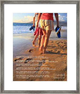 Always Ourselves We Find In The Sea Framed Print by Edward Fielding