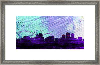 Anchorage City Skyline Framed Print by Naxart Studio