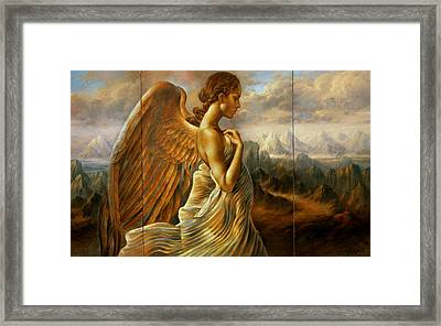 Angel Triptych Framed Print by Arthur Braginsky