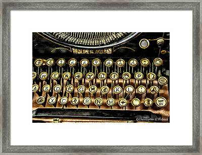 Antique Keyboard Framed Print by Christopher Holmes