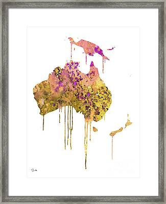 Australia Framed Print by Luke and Slavi