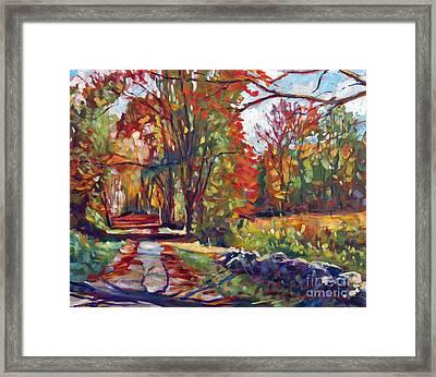 Autumn On The Hudson Framed Print by David Lloyd Glover