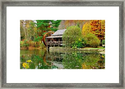 Autumn's Reflection Framed Print by Hominy Valley Photography