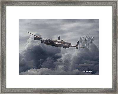 Avro Lancaster - Aircrew Remembrance Framed Print by Pat Speirs