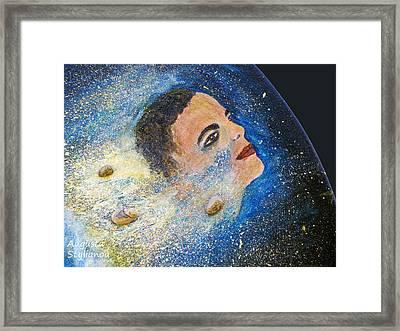Barack Obama  Stars Framed Print by Augusta Stylianou