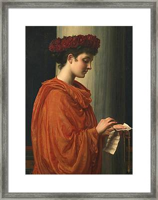 Barine Framed Print by Sir Edward John Poynter