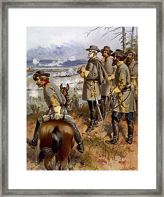 Battle Of Fredericksburg Framed Print by American School