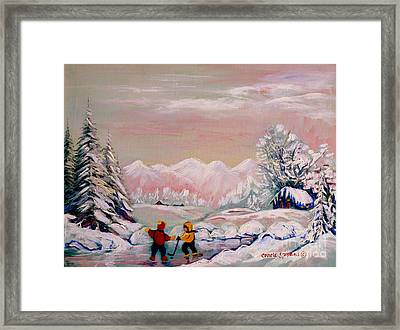Beautiful Winter Fairytale Framed Print by Carole Spandau