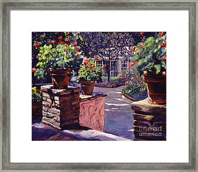 Bel-air Gardens Framed Print by David Lloyd Glover
