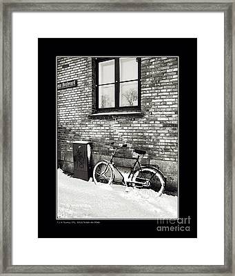 Bicycle Under A Window Framed Print by Pedro L Gili