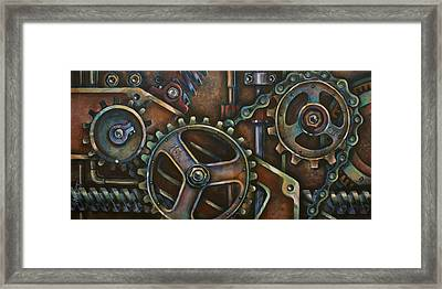 'blue Harmony' Framed Print by Michael Lang