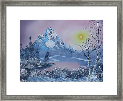Blue Winter's Sunglow  Framed Print by Bob Williams