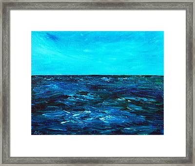Body Of Water Framed Print by Anastasiya Malakhova