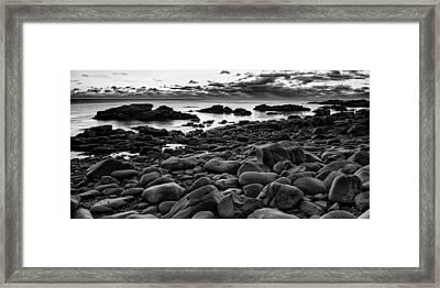 Boulders At Sunrise Marginal Way Framed Print by Jeff Sinon