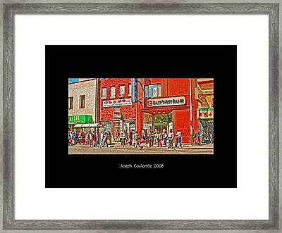 Bus Stop  Framed Print by Joseph Coulombe
