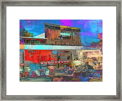 Cafe In Manton Ca Framed Print by Irina Hays