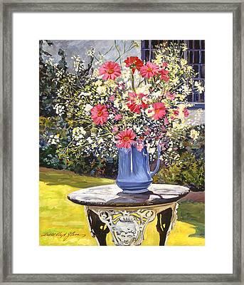 Camille's Garden Bouquet Framed Print by David Lloyd Glover