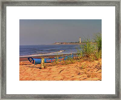 Cape May Beach Framed Print by Nick Zelinsky