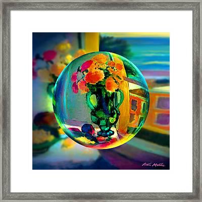 Cercle La Vie En Rose  Framed Print by Robin Moline