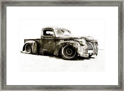 Chevy Pickup Patina  Framed Print by motography aka Phil Clark