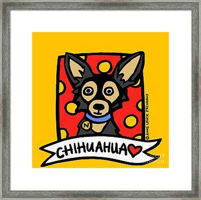 Chihuahua Love Framed Print by Anne Leuck