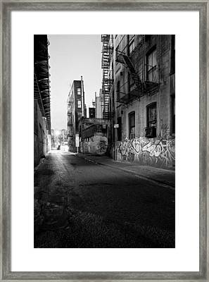 Chinatown New York City - Mechanics Alley Framed Print by Gary Heller