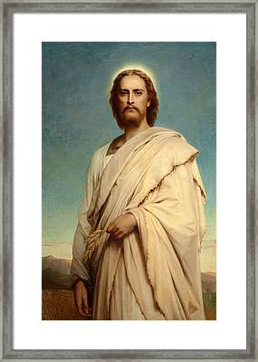 Christ Of The Cornfield Framed Print by Frank Dicksee