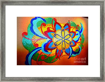 Colorful Tile Abstract Framed Print by Judy Palkimas