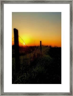 Country Sunrise Framed Print by Tom Druin