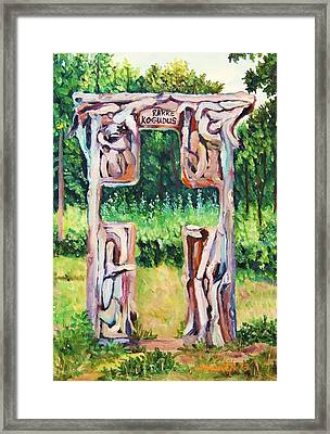Cross Gate On The Hill Framed Print by Misuk  Jenkins