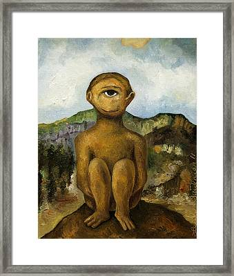 Cyclops Framed Print by Leah Saulnier The Painting Maniac