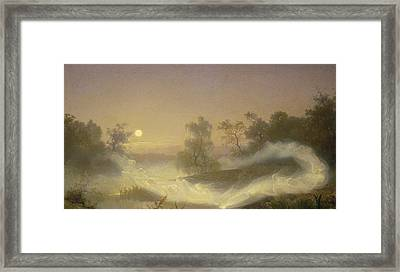 Dancing Fairies Framed Print by August Malmstrom