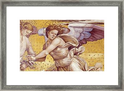 Detail Of The Elect In Paradise Framed Print by Luca Signorelli