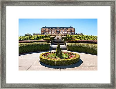 Domaine Carneros Winery And Vineyard In Napa Valley California. Framed Print by Jamie Pham