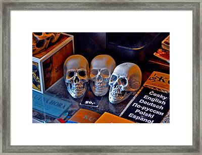 Don't Want To Buy The Skull? Framed Print by Andy Za