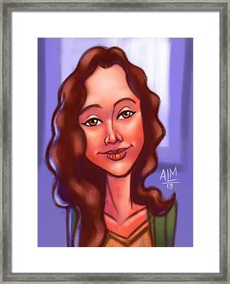 Dora Ipad Illustration Framed Print by Anthony Mata