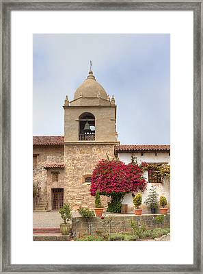 Facade Of The Chapel Mission San Carlos Borromeo De Carmelo Framed Print by Ken Wolter
