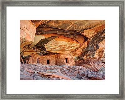 Fallen Roof Anasazi Ruins 2 - Cedar Mesa - Utah Framed Print by Gary Whitton