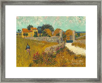 Farmhouse In Provence Framed Print by Vincent van Gogh