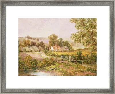 Farmyard Scene Framed Print by C L Boes